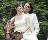 Slide Pictures of Jennifer Garner and Russell Brand Filming Arthur