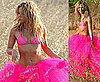 Pictures of Shakira in a Bikini Top and Tutu in Ibiza