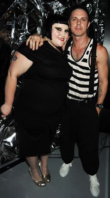Beth Ditto and Jake Shears