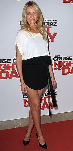 Pictures of Cameron Diaz on Vionnet Colorblock Dress