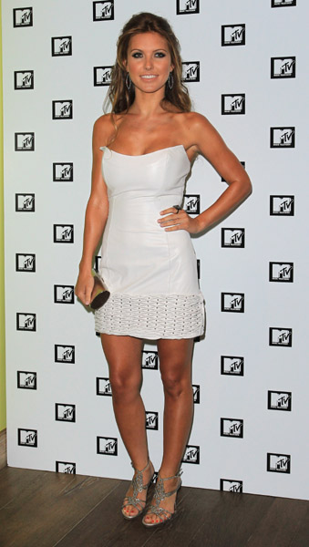 Audrina Patridge chose a LWD by Ina Soltani for The Hills farewell party in London.