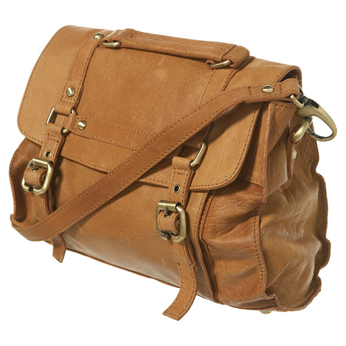 Medium Leather Buckle Satchel, approx $86 from Topshop