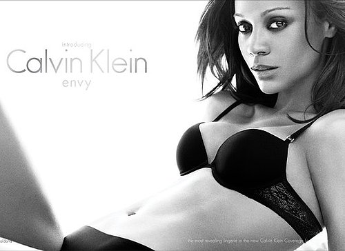 Photos of Zoe Saldana for Calvin Klein Envy Lingerie