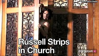 Video of Russell Brand in His Underwear at Church