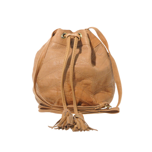 Washed Leather Panelled Mini Duffle Bag, approx $43 from ASOS