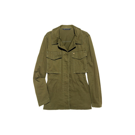 Military-Style Cotton-Twill Jacket, approx $432, Marc by Marc Jacobs from Net-A-Porter