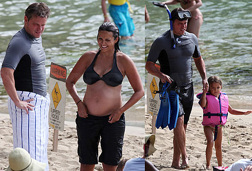 Pictures of Matt Damon In Hawaii With Pregnant Luciana in a Bikini