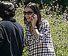 Slide Picture of Jennifer Garner Wearing Plaid in LA
