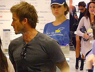 Pictures of David Beckham and Victoria Beckham Shopping in London