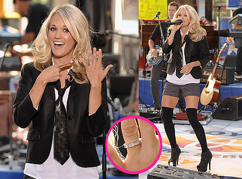 Pictures of Carrie Underwood Flashing Her Engagement Ring on The Today Show