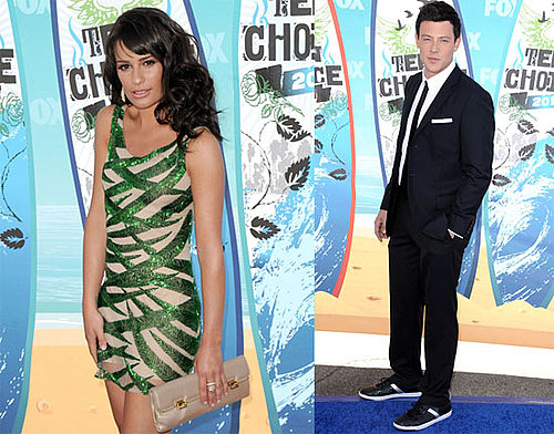 Glee stars Lea Michele and Cory Monteith at the 2010 Teen Choice Awards