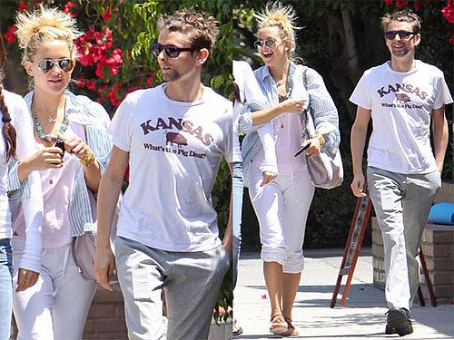 Photos de Kate Hudson et Matthew Bellamy en train de bruncher a LA