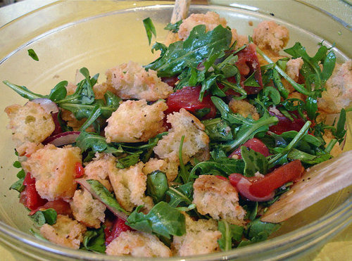 Recipe For Tomato Panzanella Bread Salad