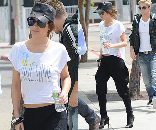 Photos of Cheryl Cole in Black Harem Pants and Cropped Tee
