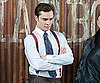 Slide Picture of Ed Westwick on Gossip Girl Set in New York