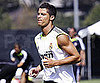 Slide Picture of Cristiano Ronaldo Practicing With Real Madrid at UCLA