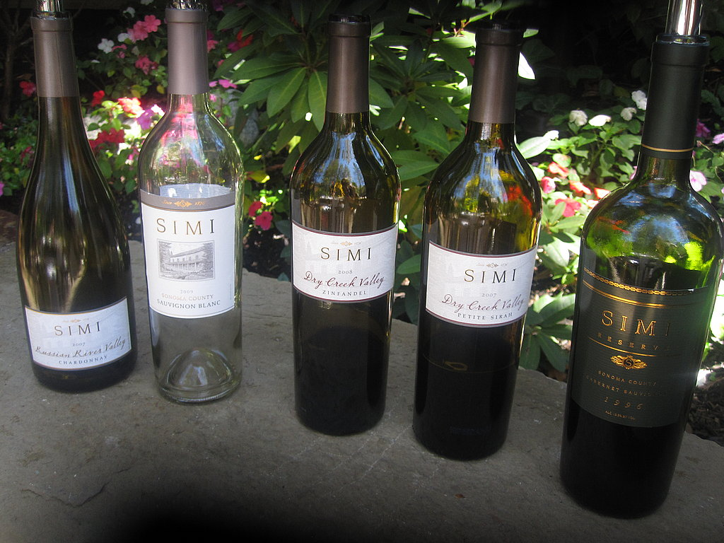 A line up of the wines we tasted. The Russian River Chardonnay, Zinfandel, and Cab Sav Reserve were wonderful and very memorable. Have you tasted Simi's wines? What varietal did you enjoy?