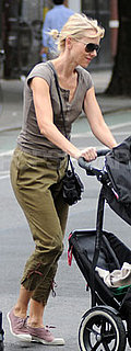 Naomi Watts Wearing Bensimons and Current/Elliott Pants in NYC