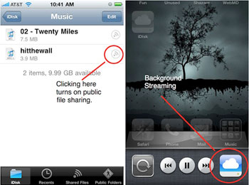 Apple Streaming Music From MobileMe