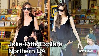 Pictures of Angelina Jolie and the Jolie-Pitt Kids in Oakland California