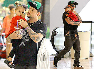 Pictures of Joel and Harlow Madden Visiting the Apple Store in LA