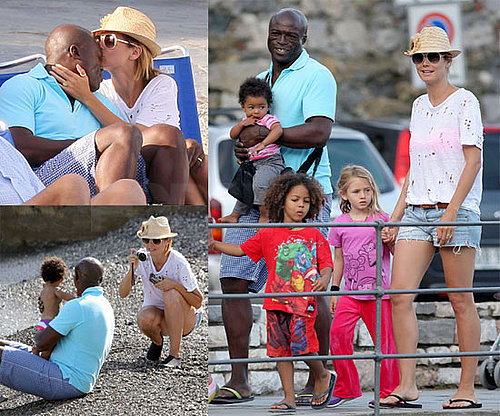 Pictures of Heidi Klum on Vacation in Italy with Seal, Henry, Leni, Johan and Lou