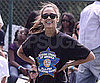 Slide Picture of Jessica Alba Playing Kickball in LA