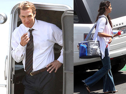 Pictures of Matthew McConaughey and Camila Alves on the LA Set of The Lincoln Lawyer