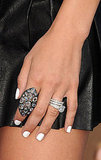 Jenna Dewan's badass Loree Rodkin jewels and cool white nails.