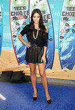 A cute flippy leather Alice + Olivia mini courtesy of Jenna Dewan.