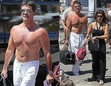 Pictures of Simon Cowell Shirtless In Nice with Mezhgan