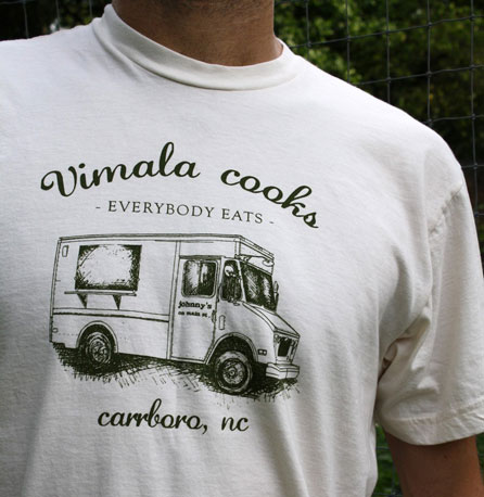 If you're from Carrboro, NC, show some local truck love with this Vimala Rajendran truck t-shirt ($18).