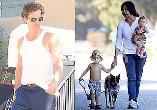 Pictures of Matthew McConaughey Filming The Lincoln Lawyer in Tank Top in LA, Levi and Vida in Malibu