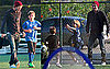 Pictures of David Beckham Playing Soccer With Cruz, Romeo and Brooklyn in LA