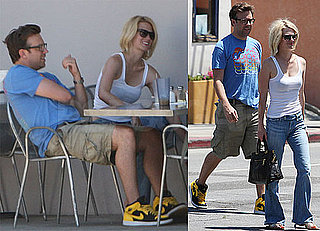 Pictures of January Jones and Jason Sudeikis on a Lunch Date in LA