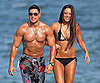 Slide Picture of Ronnie and Sammi at Jersey Shore in Bikini and Shirtless