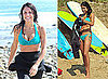 Pictures of Bethenny Frankel Taking Surfing Lessons Wearing a Bikini in the Hamptons