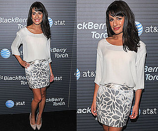 Pictures of Lea Michele at BlackBerry Torch Party