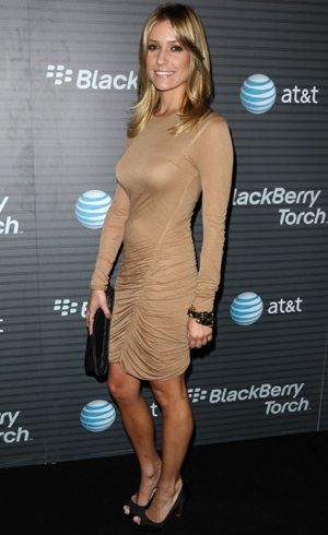Photos of Kristin Cavallari in Tan ALC Dress