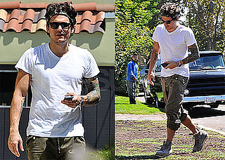 Pictures of John Mayer Leaving a Meeting With His Trainer in LA