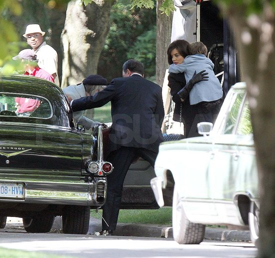 Pictures of Katie Holmes on Set