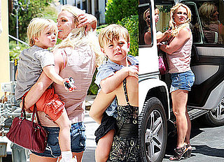 Pictures of Britney Spears on a Burger Run With Her Boys During a Break From Glee