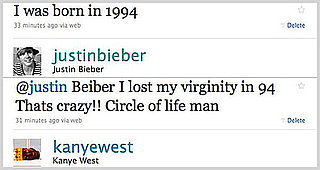 Justin Bieber and Kanye West Twitter Conversation