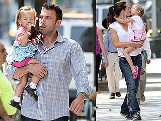 Pictures of Ben Affleck and Jennifer Garner with Seraphina and Violet in New York
