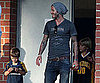 Slide Picture of David Beckham with Cruz and Romeo in LA