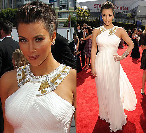 Kim Kardashian in Marchesa at 2010 Primetime Emmy Awards