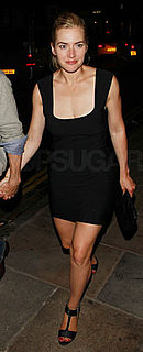 Kate Winslet Wears Black Dress in London