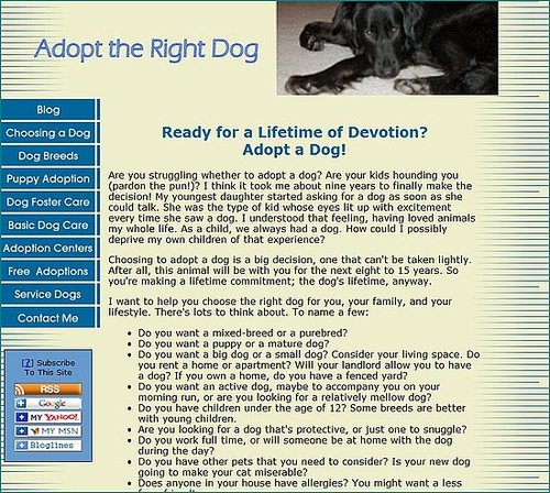 Adopt the Right Dog