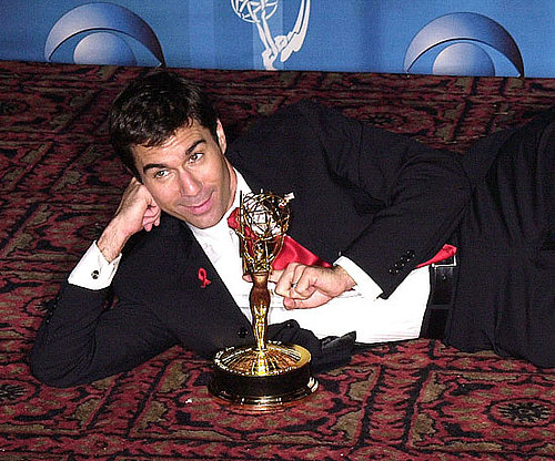 Eric McCormack posed with his 2001 Emmy for best actor in Will & Grace.