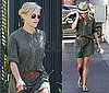 Pictures of Reese Witherspoon in Green Shirtdress in LA